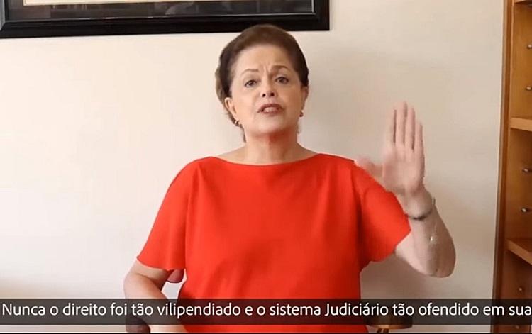 Dilma na live