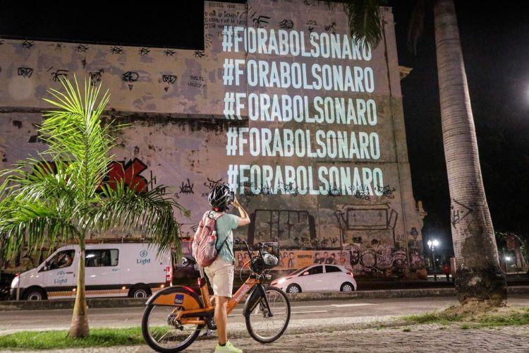 Fora Bolsonaro visual