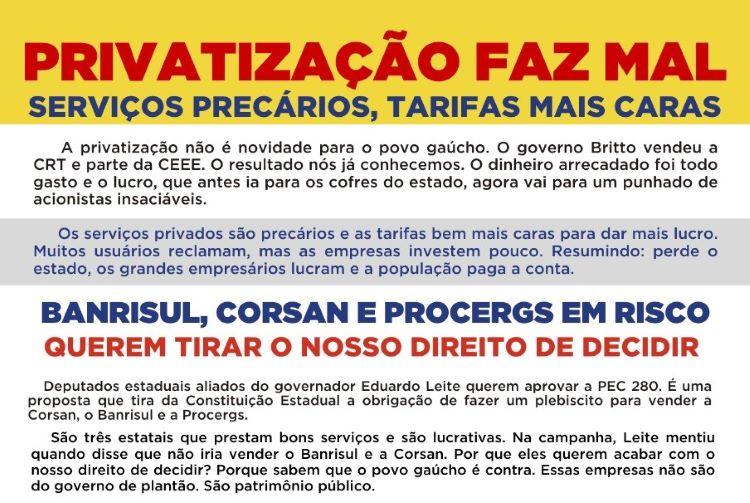 Privatização faz mal (2)