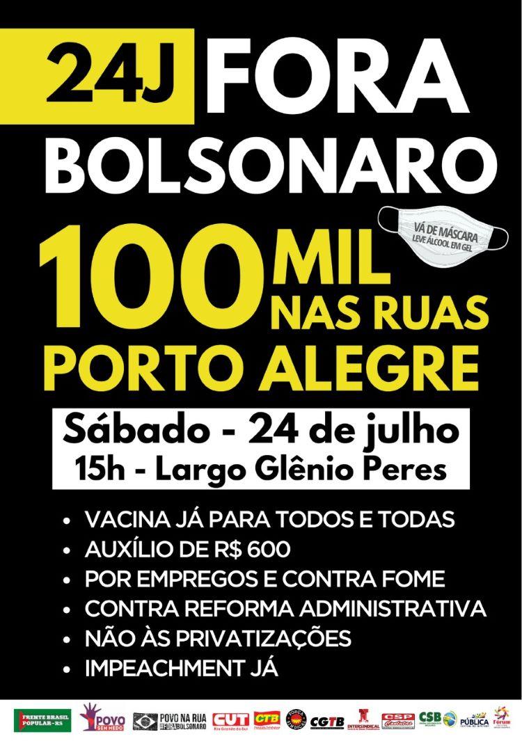 Panfleto Fora-Bolsonaro