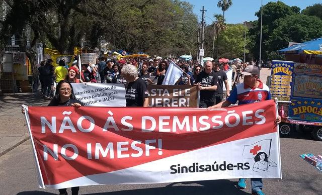 Não às demissões no IMESF